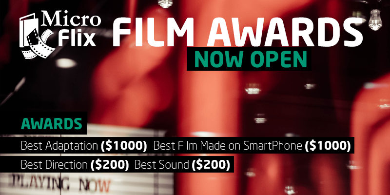 Microflix Film Awards 2019 Banner - NOW OPEN